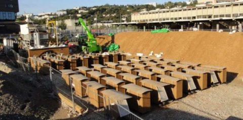 Aire de préfabrication des blocs pisé