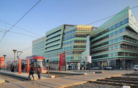 Vue du bâtiment WOOPA à Vaulx-en-Velin (69). Crédit photo Christine Chaudagne